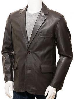 Mens Leather Blazer in Brown: Alphington