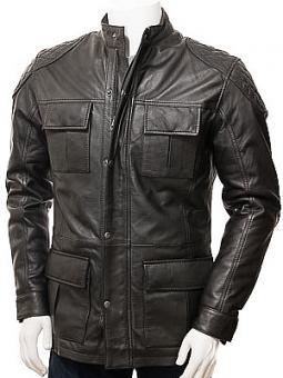 Men's Black Leather Jacket: Ide