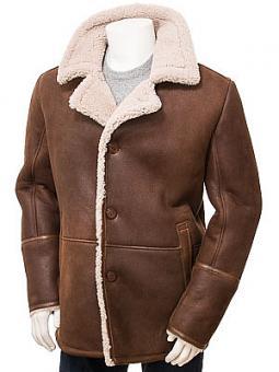 Men's Brown Sheepskin Coat: Nymet