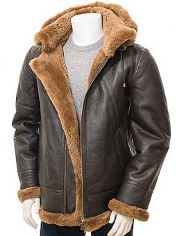 Men's Brown & Ginger Sheepskin Jacket: Salcombe