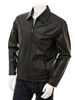 Men's Black Harrington Leather Jacket